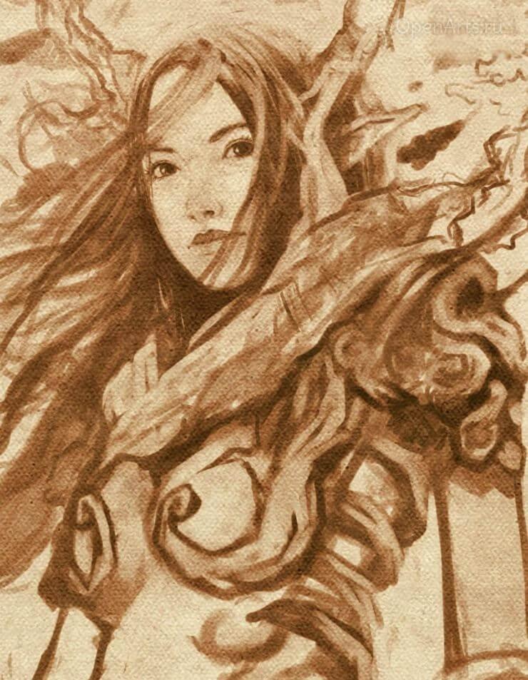 Финальный рисунок-портрет Cendrea