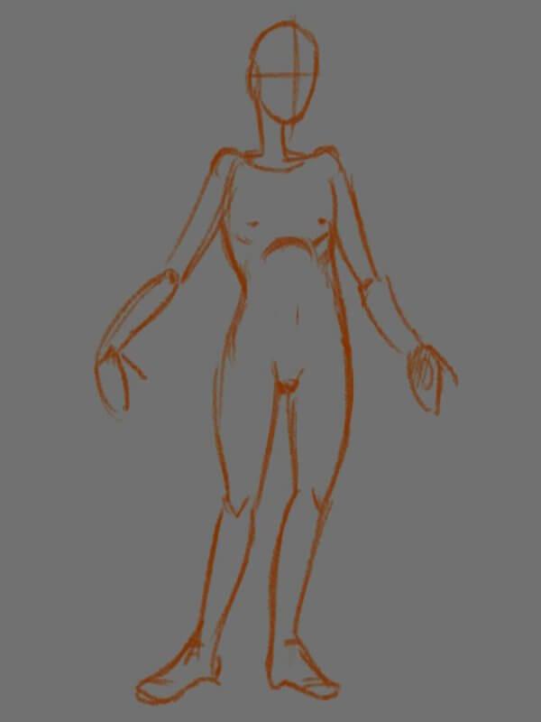 Пример наброска персонажа