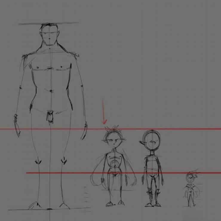 Рисование маленького персонажа