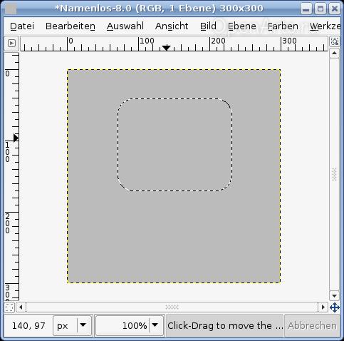Создаем в Gimp выделение с закругленными углами