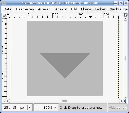 Создаем прямоугольное выделение и удаляем выделенную область