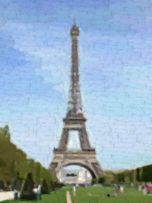 Используем фильт Гимпрессионист для придания изображению эффекта картины с мазками от кисти