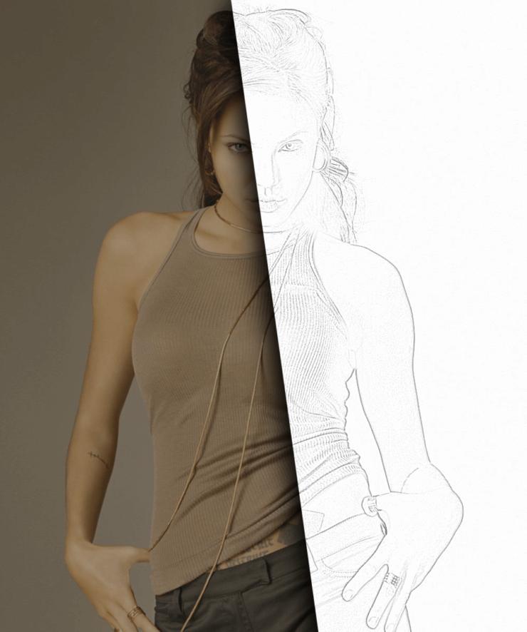 Итоговое изображение, выполненное в Gimp, совмещенное с исходной фотографией