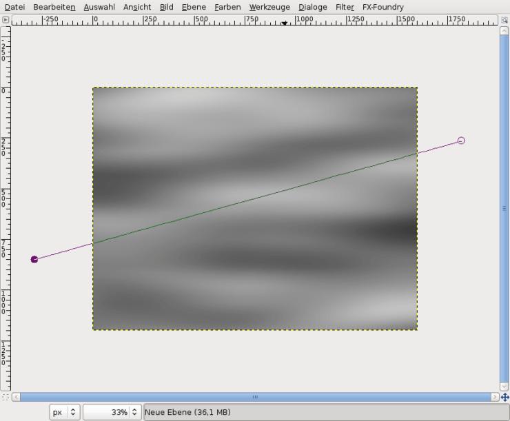 Создаем новый слой в Gimp и используем инструмент Контуры