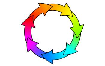 Размещаем стрелки вдоль окружности в Inkscape