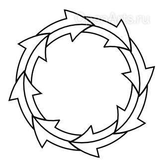 Команда Pattern along Path в Inkscape