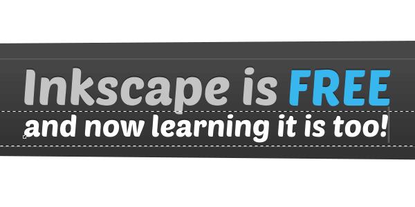 Создание рекламного слогана в Inkscape