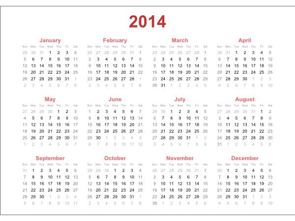 Календарь, созданный в Inkscape за считанные секунды