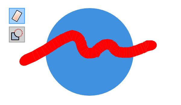 Стирание ластиком части круга в Inkscape