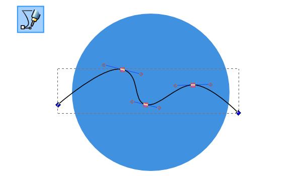 Рисование кривой в Inkscape
