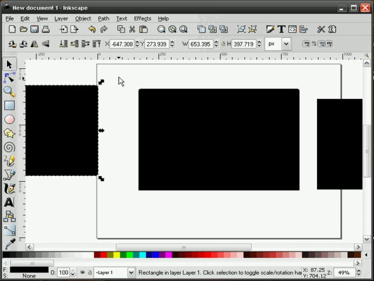 Перемещение дубликатов в Inkscape
