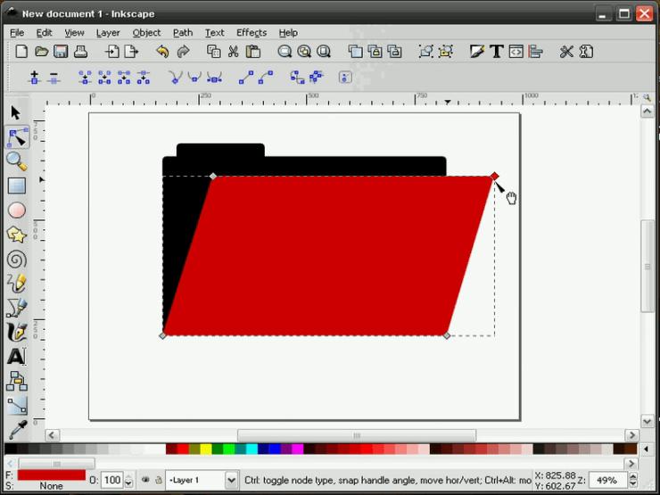 Создание перспективы в Inkscape