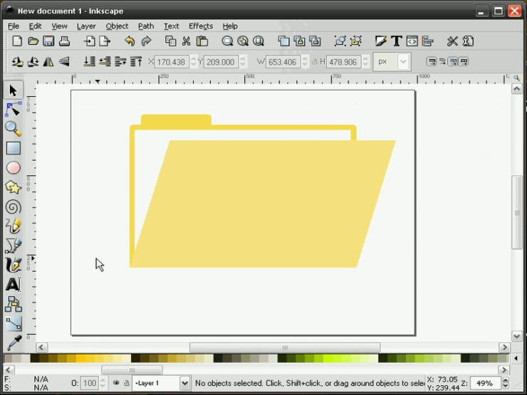 Изменение цвета элементов в Inkscape