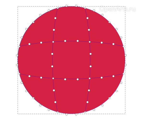Создание градиентной сетки в Inkscape
