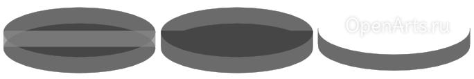 Получаем разность двух больших эллипсов