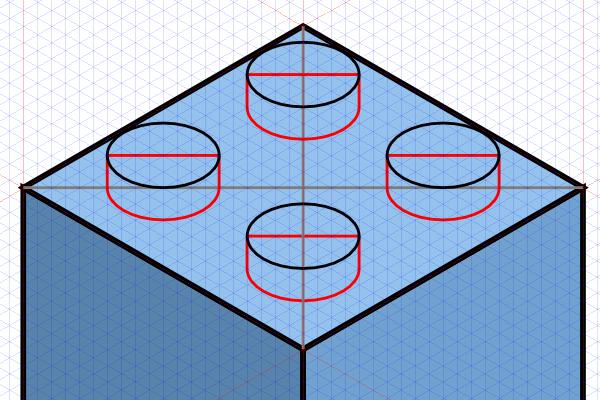 Рисование коннекторов Лего в Inkscape