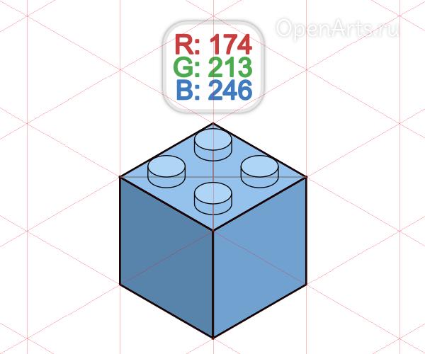 Раскрашивание коннекторов Лего в Inkscape