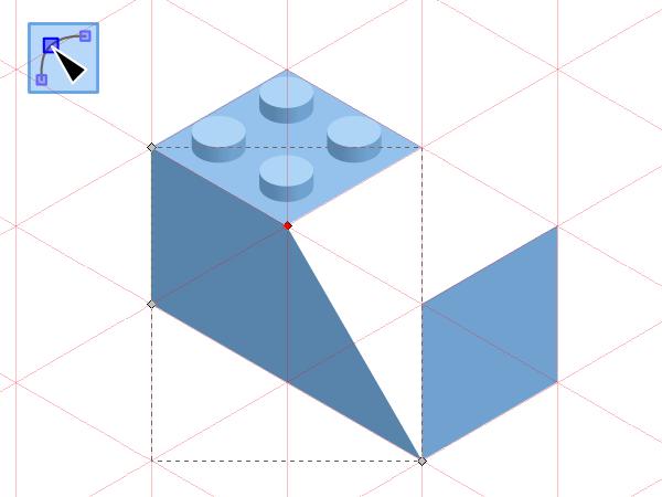 Изменение длины блока Лего в Inkscape