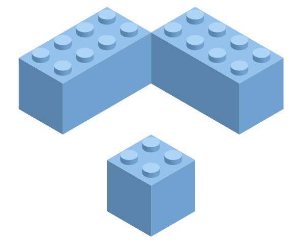 Вариации блоков Lego, созданных в Inkscape