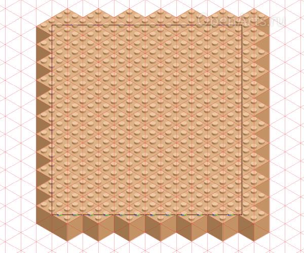 Создание фундамента для строительства из блоков Lego в Inkscape