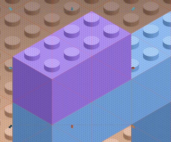 Размещение блоков Lego на фундаменте в Inkscape