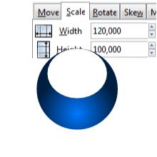 Растягивание круга в Inkscape