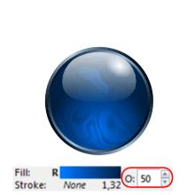 Уменьшение непрозрачности объекта в Inkscape