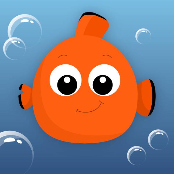 Финальное изображение рыбки Немо в Inkscape