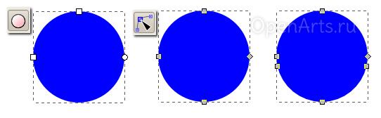 Преобразование круга в контур и добавление узлов в Inkscape