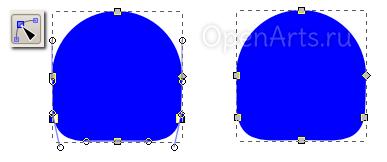 Перемещение узлов контура в Inkscape