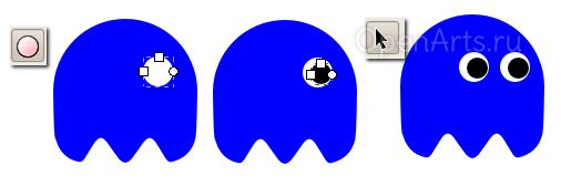 Создание глаз персонажа в Inkscape