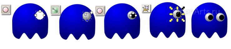 Создание иллюзии объема в Inkscape