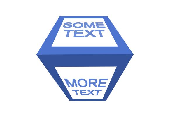 Куб с текстом в перспективе в Inkscape