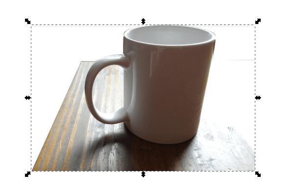 Обтравка фотографии в Inkscape