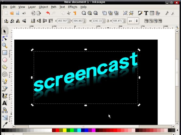 Работа с текстом в Inkscape