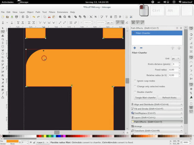 Расширение Fillet and Chamfer для Inkscape (LPE)