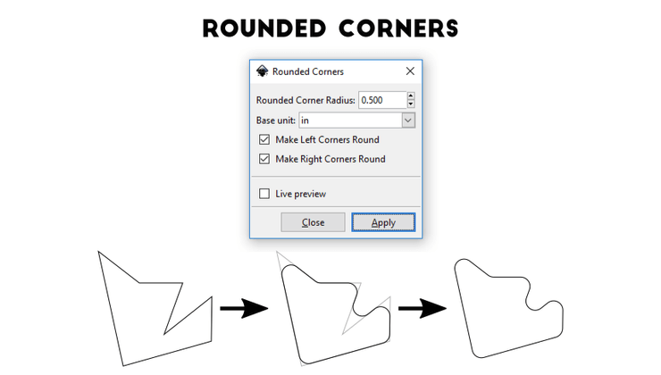 Расширение Rounded Corners для Inkscape