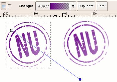 Финальное изображение созданного в Inkscape штампа