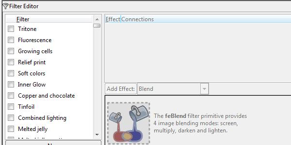 Редактор фильтров Inkscape