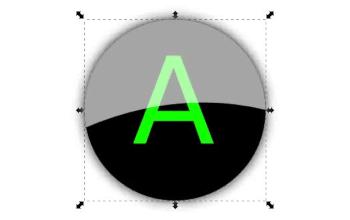 Быстрое создание блестящей кнопки в Inkscape
