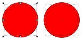 Уменьшаем круг при помощи соответствующего инструмента Inkscape