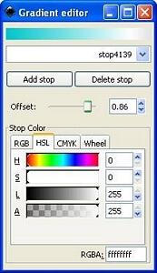 Назначаем цвет для второй опорной точки внешнего круга