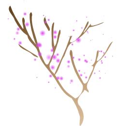 Упрощаем очертания дерева и добавляем градиент в Inscape