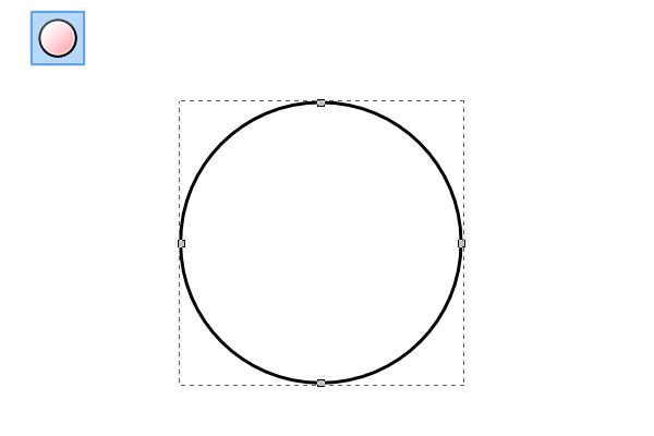Рисование окружности в Inkscape