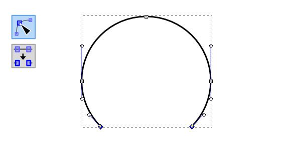 Удаление ненужного сегмента окружности в Inkscape