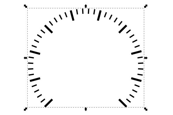 Применение контурного эффекта изгиб в Inkscape