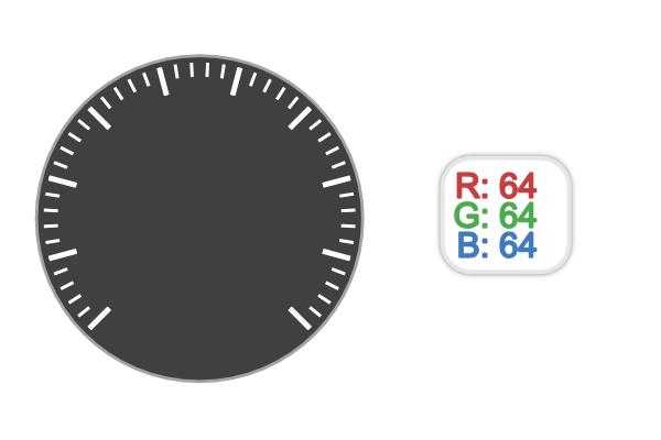Изменение цветов подложки и шкалы тахометра в Inkscape