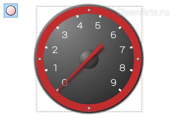 Рисование круга с широкой обводкой в Inkscape