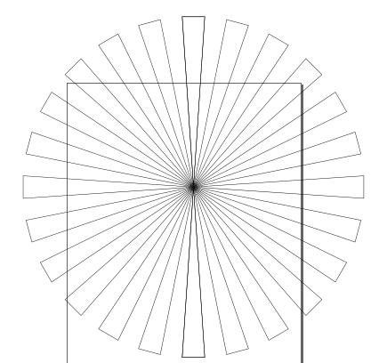 Круговой узор из клонов треугольников в Inkscape