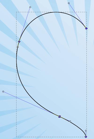 Создание плавной кривой в Inkscape